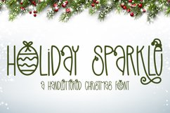 Holiday Sparkle - A Hand-Lettered Christmas Font Product Image 1