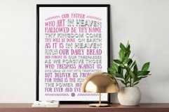 The Lord's Prayer - pink & purple Product Image 1