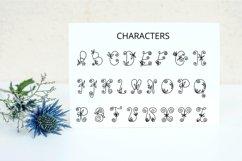Flores mono - beautiful monogram floral font Product Image 5
