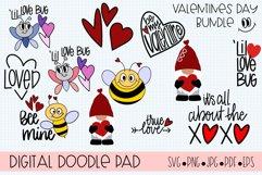 Valentines Day Bundle Gnome Hearts - Cricut & Silhouette Cut Product Image 1
