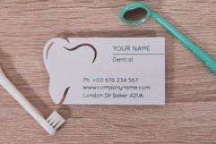 Dentist business card template cutting file Product Image 2