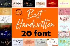 Best Handwritten Fonts Bundle Product Image 1