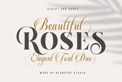Beautiful Roses Duo Font Product Image 1