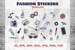 Fashion Stickers and Cliparts Vector SVG PNG Product Image 1