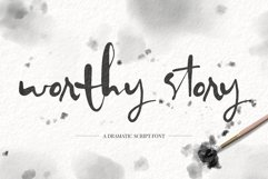 Worthy Story Script Font Product Image 1