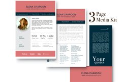 Blog Media Kit Template - 3 Page Product Image 4