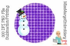 Snowman Sublimation | Sublimation Background | PNG Product Image 1