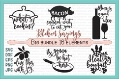 Bundle kitchen sayings towel designs svg dxg cutting files Product Image 1