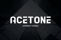 Acetone - Futuristic Typeface Product Image 1