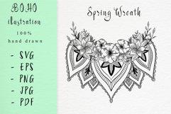 Boho illustration /Spring wreath Product Image 1