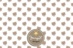 Boy Teddy Bear Digital papers and Clipart SET Product Image 3