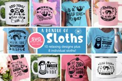 Sloth SVG Bundle - Relaxed & Fun Sloths PNGs Product Image 14