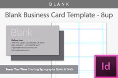 Blank Business Card InDesign Template Product Image 1
