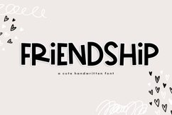 Friendship - A Bold & Cute Handwritten Font Product Image 1