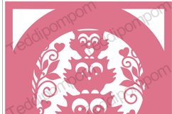 Owl Frame SVG PNG paper cutting file Product Image 1