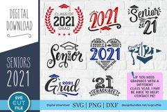 graduation 2021 svg file - a class of 2021 senior svg bundle Product Image 1