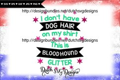 Text cutting file Dog Hair Bloodhound, bloodhound svg Product Image 3