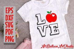 Teacher Svg Teach Love Svg School Svg Love School SVG Love S Product Image 7