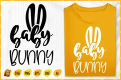 Baby Bunny SVG - Easter SVG - Baby Quotes SVG - Bunny SVG Product Image 1