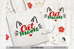 Cat Mom SVG Cat Mama SVG Cat Face SVG Cat mom with cat face Product Image 2