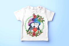 Cute Watercolor Penguins clipart Product Image 5