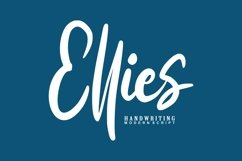 Ellies   Handwriting Modern Script Product Image 1