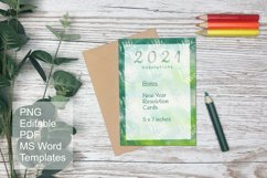 Green Watercolor Blank Card Templates Editable PDF MS Word Product Image 5