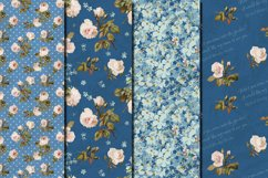 Shabby chic roses seamless patterns Product Image 3