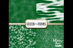 Green Forms - 10 Digital Papers/Backgrounds Product Image 3