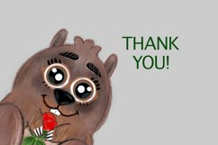 Groundhog day graphic illustration and lettering png, svg Product Image 3