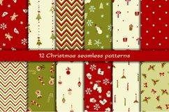 Set of 12 Christmas seamless patterns Product Image 1