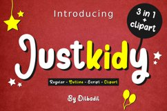 Justkidy - A Fun, Script, Doodle Trio Product Image 1