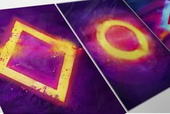 80s Retro Watercolor backgrounds. Product Image 5