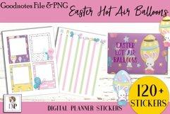 Easter Hot Air Balloon Digital Printable Stickers Goodnotes Product Image 4
