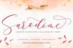 Romantic Script - Sarodime Font Product Image 1