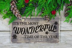 It's the Most Wonderful Time of the Year SVG with Snowflakes Product Image 2