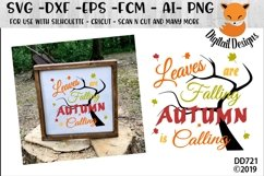 Leaves Are Falling Autumn Is Calling SVG Product Image 1