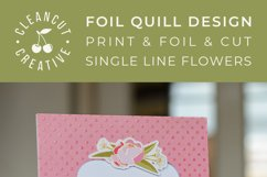 Foil Quill Flowers | Print & Foil single line sketch design Product Image 6