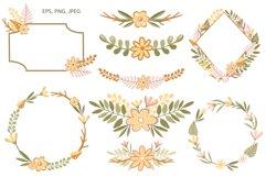 Simple Flowers - Vector Clip Art Set Product Image 2