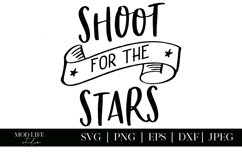 Shoot for the Stars SVG Cut File - SVG PNG JPEG EPS DXF Product Image 2