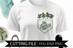 My Lucky Shirt - 4 Leaf Clovers - Hand Lettered SVG Product Image 1