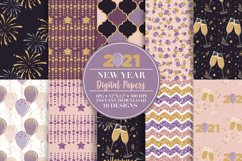2021 New Year Digital Paper and Clip Art Product Image 1