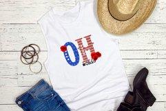State abbreviation. USA sublimation. Ohio Product Image 2
