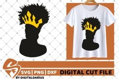 5x Black Woman Bundle SVG, Afro Lady svg, file,Lady in Crown Product Image 4