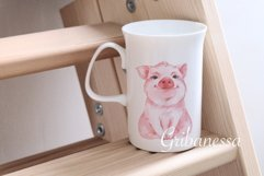 Pig and pattern. Watercolor Product Image 5