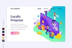 Isometric Loyalty program Landing page illustration Product Image 1