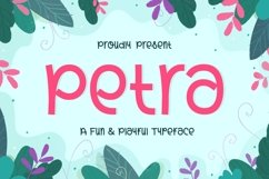 Petra - Fun and Playful Typeface Product Image 1