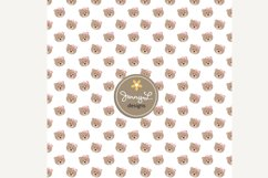 Girl Teddy Bear Digital papers and Clipart SET Product Image 3