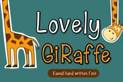Lovely Giraffe Handwritten- cute kid font Kawaii style! Product Image 1