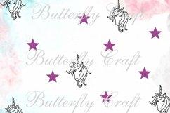 Unicorns Digital Paper , Scrapbook unicorn paper Product Image 6